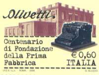 Francobollo Centenario Olivetti